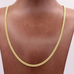 """Real Gold Cuban 3.5 22"""" 10K Solid Gold Mens Chain"""
